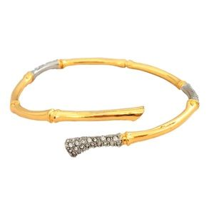 ALEXIS BITTAR • Bamboo Crystal Encrusted Bangle